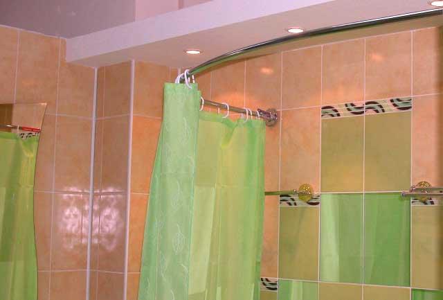 Как сделать угловую шторку в ванную